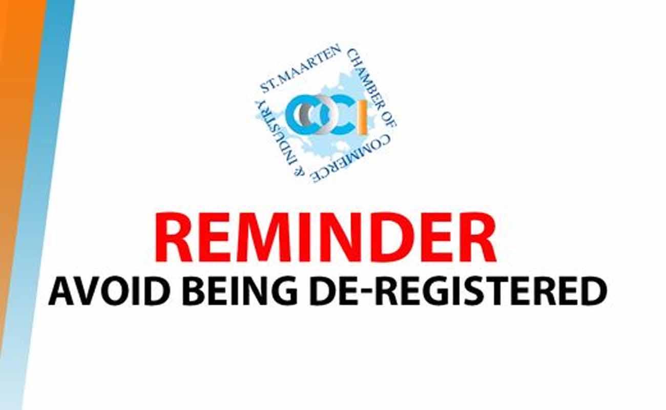 Avoid Being De-Registered