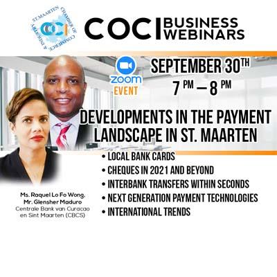 Development in the payment landscape in St. Maarten