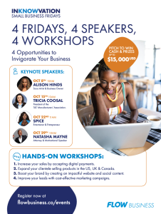 INKNOWVATION - Key Note: Natasha Mayne -Small Business Fridays @ virtual connect
